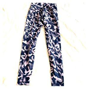 Lululemon Athletica 7/8 Printed Yoga Pants